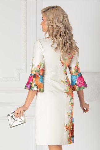 Rochie Ira ivoire cu imprimeu floral