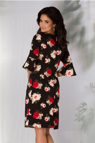 Rochie Ira neagra cu trandafiri