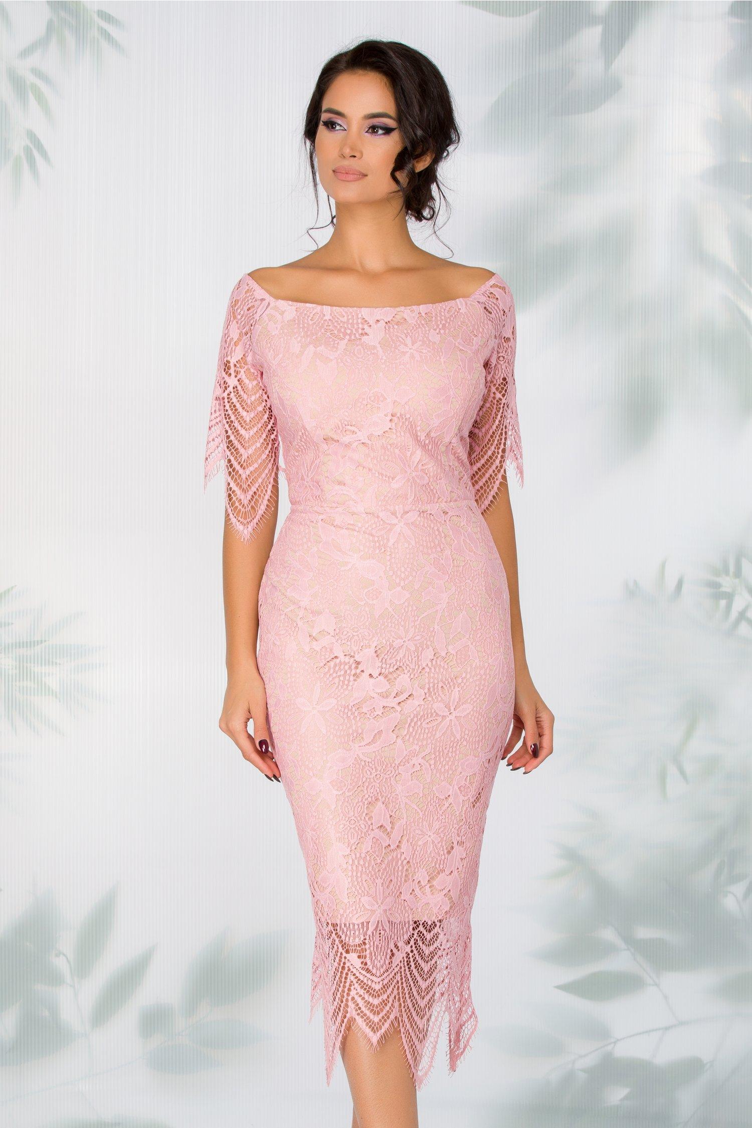 Rochie Issa din dantela roz