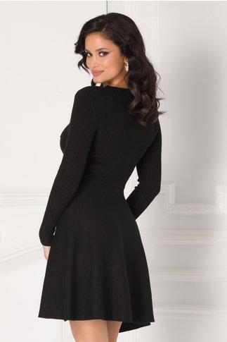 Rochie Iulia neagra tricotata