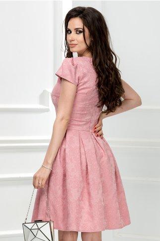 Rochie Jenia lila in clos din brocard