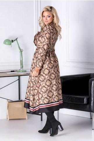Rochie Jodi bej cu imprimeu divers