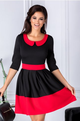 Rochie Karan negru cu rosu in clos