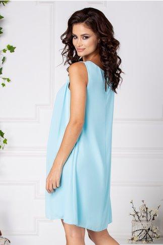 Rochie Kate bleu cu pliuri la bust