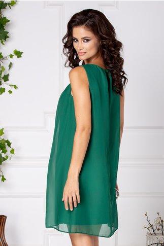 Rochie Kate verde cu pliuri la bust