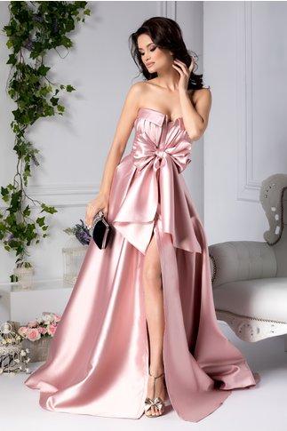 Rochie Kendall lunga de seara roz