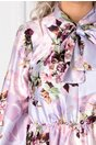 Rochie Kim lila cu imprimeu floral