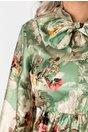Rochie Kim verde cu imprimeu floral