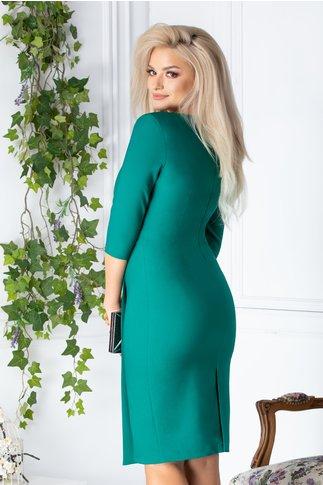 Rochie LaDonna verde conica eleganta