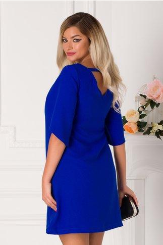 Rochie LaDonna albastra cu maneci decupate
