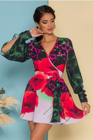 Rochie LaDonna by Catalin botezatu scurta cu imprimeu floral maxi