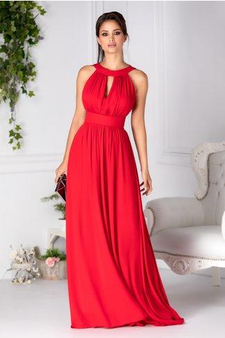 Rochie LaDonna Lavy rosie lunga de seara
