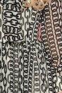 Rochie LaDonna neagra cu imprimeu chain negru