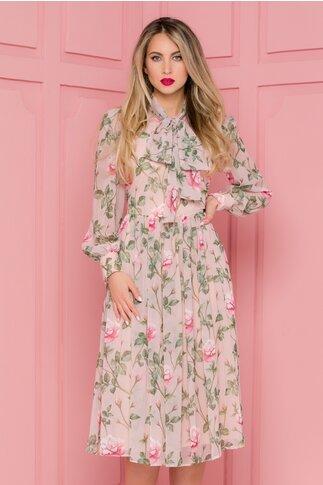 Rochie LaDonna rose cu imprimeuri florale