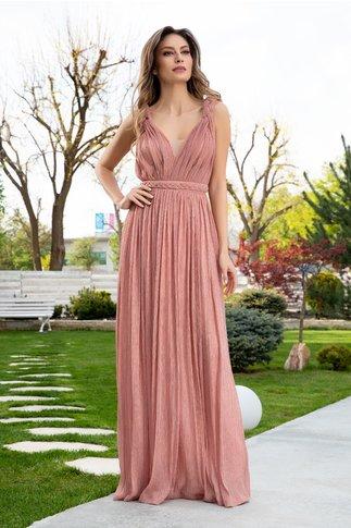 Rochie LaDonna roz coniac cu lurex