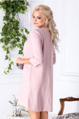 Rochie LaDonna roz cu funda