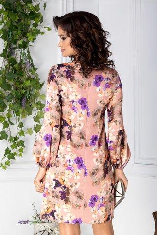 Rochie LaDonna roz cu imprimeu floral
