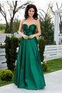 Rochie LaDonna verde lunga de seara