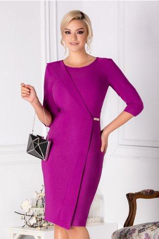 Rochie LaDonna violet conica eleganta