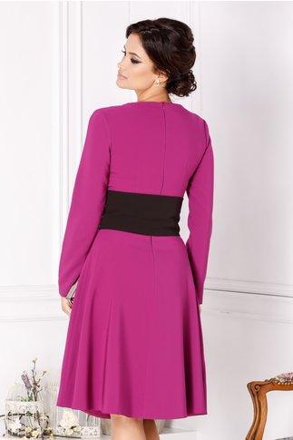 Rochie LaDonna violet in clos cu brau in talie