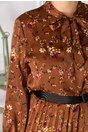 Rochie Lauren maro cu imprimeuri florale