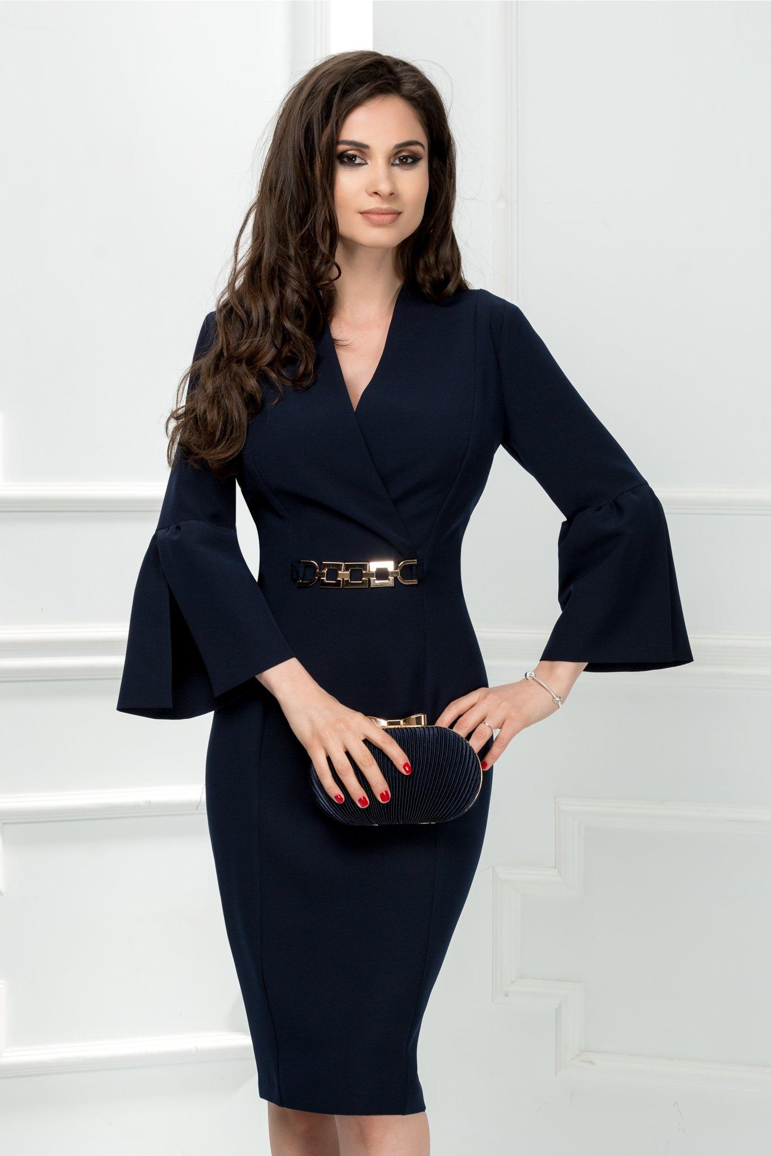 Rochie Leonard Collection Adriel bleumarin eleganta