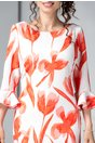 Rochie Leonard Collection Aissa cu imprimeu oranj