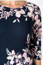 Rochie Leonard Collection bleumarin cu imprimeu floral