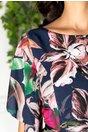 Rochie Leonard Collection bleumarin cu imprimeu floral colorat
