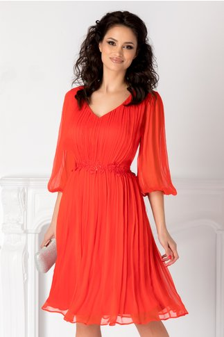 Rochie Leonard Collection corai din matase naturala