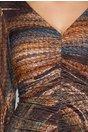 Rochie Leonard Collection cu imprimeu in culori tomnatice si fronseu pe fata