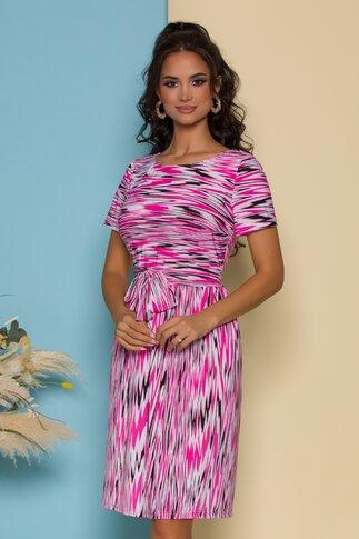 Rochie Leonard Collection cu imprimeu zebra roz