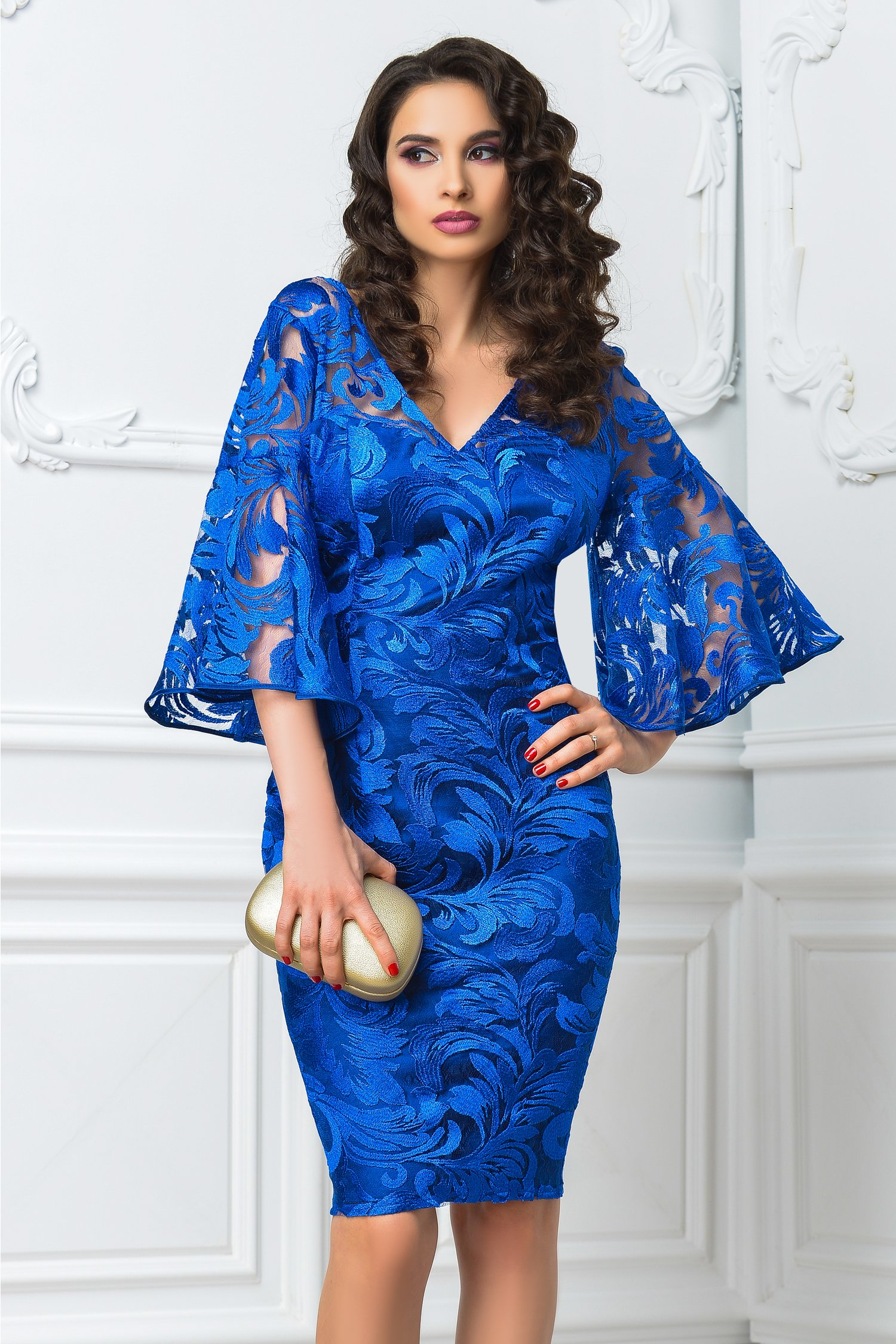 Rochie Leonard Collection Kiara albastra de lux
