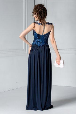 Rochie Leonard Collection lunga bleumarin de seara