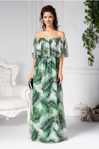 Rochie Leonard Collection lunga vaporoasa cu imprimeu tropical