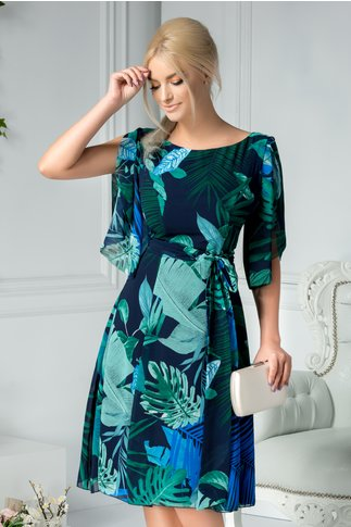 Rochie Leonard Collection midi cu imprimeu tropical