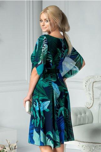 Rochie Leonard Collection midi cu imprimeu tropical