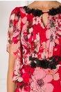 Rochie Leonard Collection rosie cu imprimeuri florale maxi