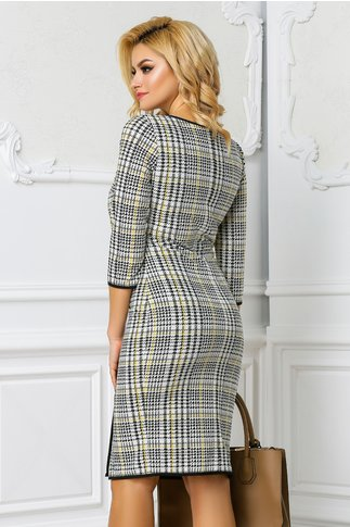 Rochie Leonard Collection Silvana office cu imprimeu