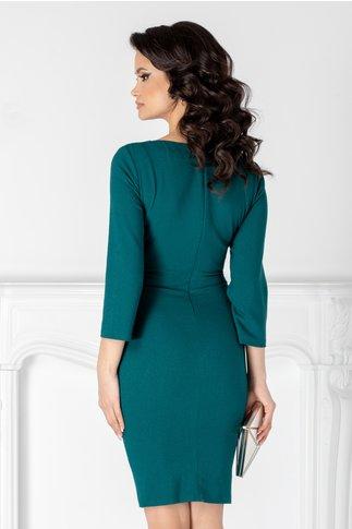 Rochie Leonard Collection verde cu fir stralucitor