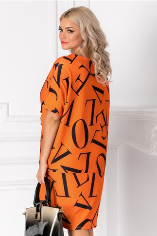 Rochie Letter orange over size