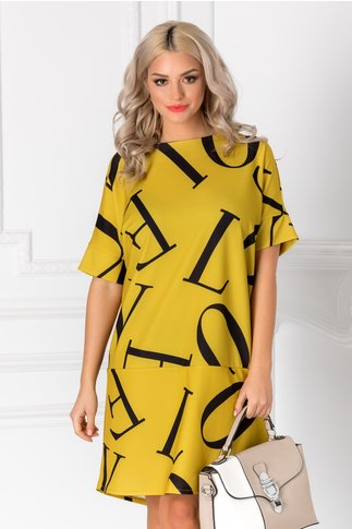 Rochie Letter vernil over size