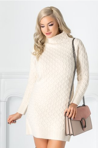 Rochie Livia bej din tricot