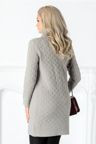 Rochie Livia gri din tricot