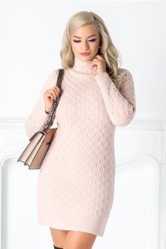 Rochie Livia roz din tricot