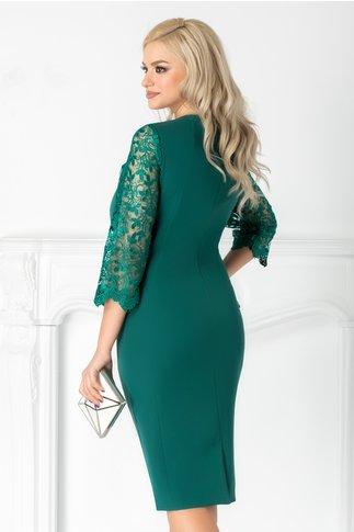 Rochie Lorelay verde cu dantela