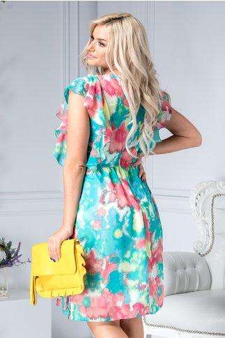 Rochie Louisse vaporoasa cu imprimeu colorat