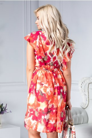 Rochie Louisse vaporoasa cu imprimeu orange