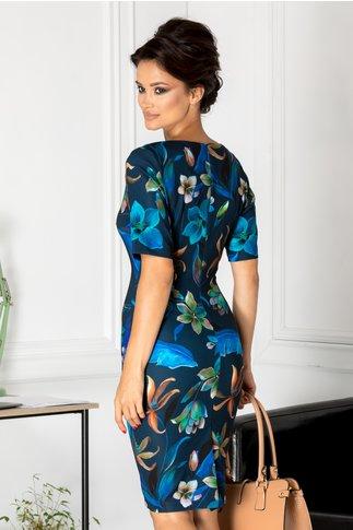 Rochie Luana de zi cu crini albastri