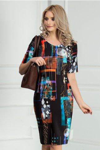 Rochie Luana de zi cu imprimeuri inedite